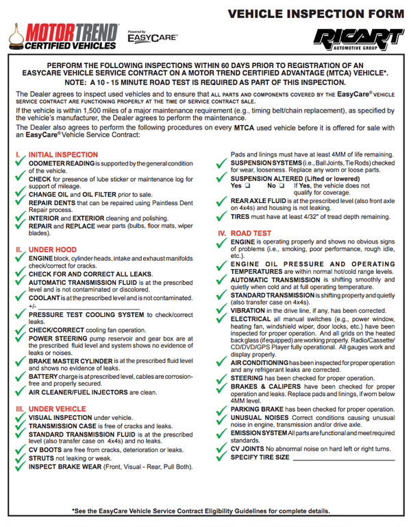 Ricart Automotive Group Motor Trend Certified Dealer
